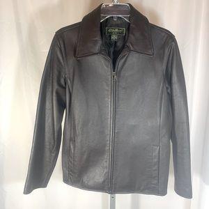 Eddie Bauer Leather Bomber Jacket size Medium